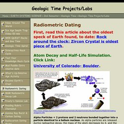 radioactive dating applet Radioactive decay calculation the radioactive half-life for a given radioisotope is a measure of the tendency of the nucleus to decay or disintegrate and as such.