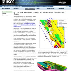 3-D Geologic and Seismic Velocity Models of the San Francisco Bay Region
