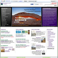 The Geological Society of America -- Promoting Geoscience Worldwide