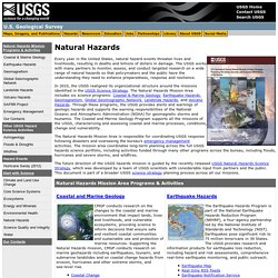 U.S. Geological Survey: Natural Hazards