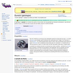 Dureté (géologie)