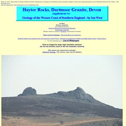 Geology of Haytor Rocks, Dartmoor, Devon - Field Guide
