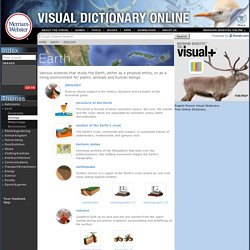 Visual Dictionary Online > EARTH