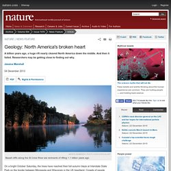 Geology: North America's broken heart