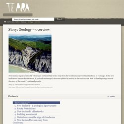 Geology – overview