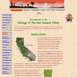 Geology of the San Joaquin Valley