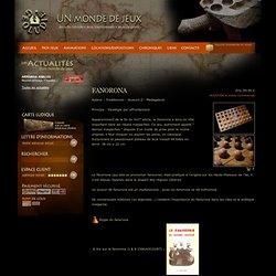 Géoludie - Jeux du monde et jeux traditionnels : FANORONA