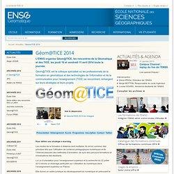 GéomaTICE 2014 : ENSG