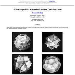 Slide-Together Geometric Constructions