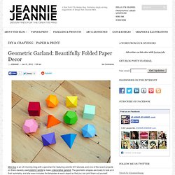 Geometric Garland: Beautifully Folded Paper Decor