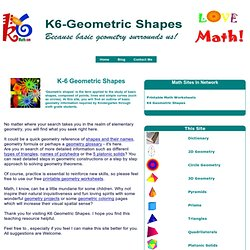 Geometric Shapes. Your One Stop Basic Geometry Resource