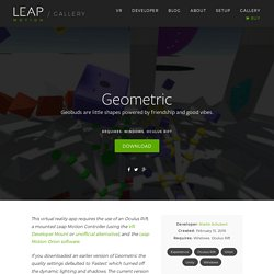 Geometric – Leap Motion Gallery