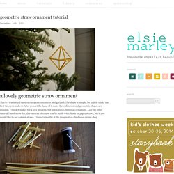 Blog Archive » geometric straw ornament tutorial
