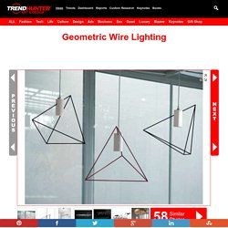 Geometric Wire Lighting : Rock Garden