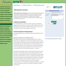 Media geométrica calculadora & cálculo