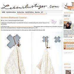 Knitted geometrical dishtowel tutorial, Anleitung gestricktes Küchenhandtuch