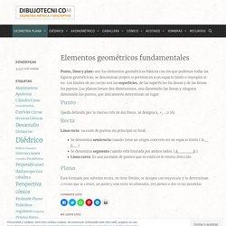 Elementos geométricos fundamentales · Dibujo Técnico