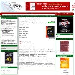 Les bases de la géométrie - 2e édition - Concours administratifs