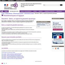 Géométrie : Déclic, un logiciel de géométrie dynamique - Direction des services départementaux de l'Éducation nationale du Doubs
