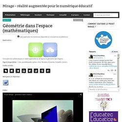 Mirage – réalité augmentée pour le numérique éducatif