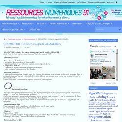 GEOMETRIE : Utiliser le logiciel GEOGEBRA