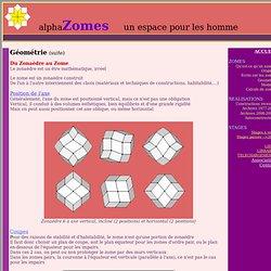 Geometrie des zomes