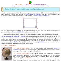 Géométries non euclidiennes