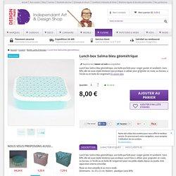 Lunch box Salma bleu géométrique - Cuisine/Boîtes, pots et bocaux - Design from Paris