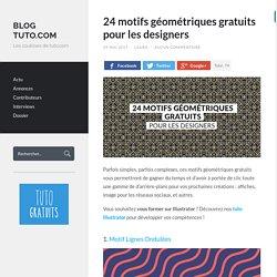 24 motifs géométriques gratuits pour les designers