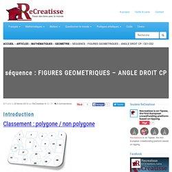 séquence : FIGURES GEOMETRIQUES - ANGLE DROIT CP / CE1/CE2