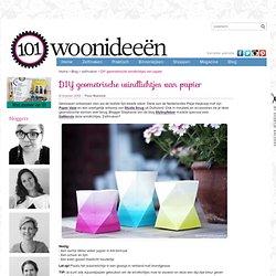 DIY geometrische windlichtjes van papier