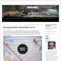 Geometriska grytlappar – Monthly Makers i mars-17