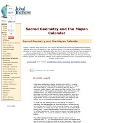 Sacred Geometry and the Mayan Calendar