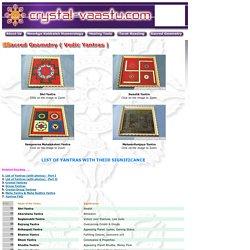 Sacred Geometry, Energised Vedic Yantras, Shri Yanthra