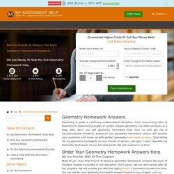 Geometry Homework Answers Online - Geometry Homework Help in USA