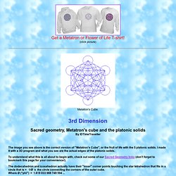 Sacred geometry, Metatron's cube and the platonic solids - 3rd Dimension
