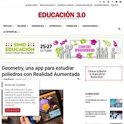 Geometry, una app para estudiar poliedros con Realidad Aumentada
