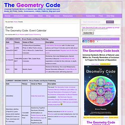Events | The Geometry Code:Universal Symbolic Mirrors of Natural Laws Within Us