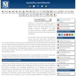 Free Printable Geometry Worksheets