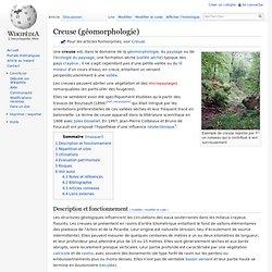 Creuse (géomorphologie)
