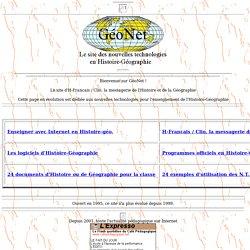 GeoNet : la page des nouvelles technolog