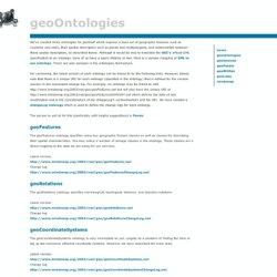 GeoOntologies