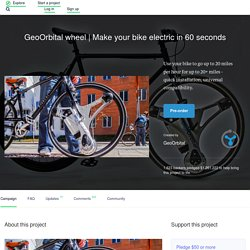Make your bike electric in 60 seconds by GeoOrbital