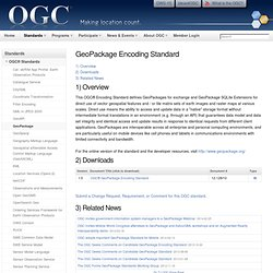 GeoPackage Encoding Standard
