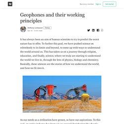 Geophones and their working principles - Anthony Lockwood - Medium