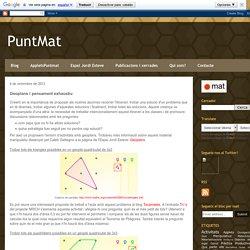 PuntMat: Geoplans i pensament exhaustiu