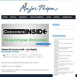 Géopo Ecricome 2018 - Les Sujets - Major-Prépa