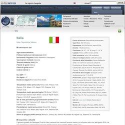 Italia - Scheda Paese - De Agostini Geografia - DeA WING - società, economia, lavoro, religione, moneta, risorse, governo, geopolitica, industria, PIL, turismo, giustizia, confini, nazione, capitale, densità di popolazione, divisione amministrativa, stati
