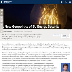 A New Geopolitics of EU Energy Security