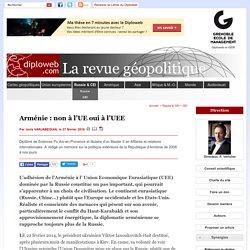 Géopolitique de l'Arménie. Pourquoi adhérer à l'UEE ? - CEI